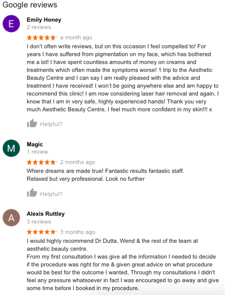 Dr Ash Dutta Reviews on Google